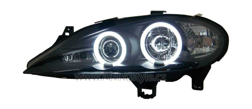 b38c257e5f Přední světla angel eyes CCFL Renault Megane 99-02 černá