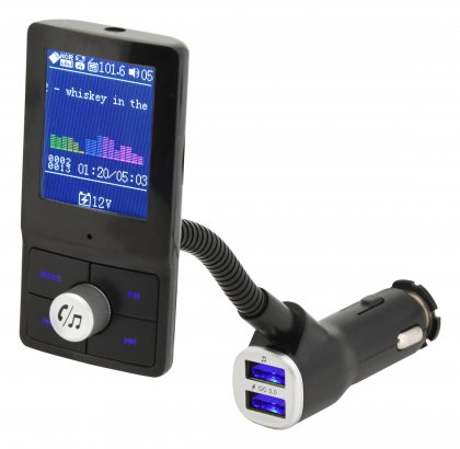 Hands free FM transmitter LCD COLOR
