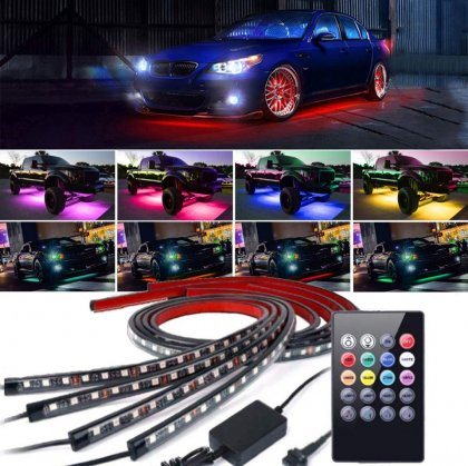 Neon LED Undercar Kit 2x60cm 2x90cm